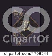 Poster, Art Print Of Elegant Save The Date Invitation Design