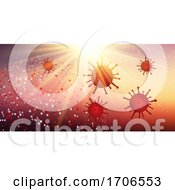 Abstract Banner With Abstract Virus Cells Covid 19 by KJ Pargeter