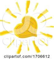Finger Paint Styled Heart Sun