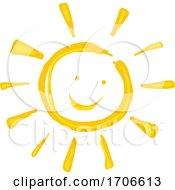 Finger Paint Styled Sun