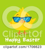 Poster, Art Print Of Yellow Chick Wearing Shades With Happy Easter Text