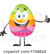 Poster, Art Print Of Colorful Easter Egg Mascot Giving A Thumb Up
