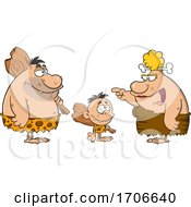 Poster, Art Print Of Cartoon Cave Family Talking
