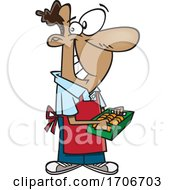 Cartoon Male Grocer