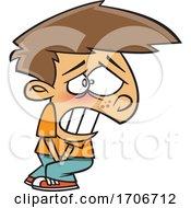 Cartoon Boy Having To Go Pee Really Bad