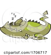 Cartoon Monster Sleeping
