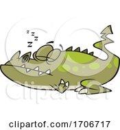 Cartoon Monster Sleeping by toonaday