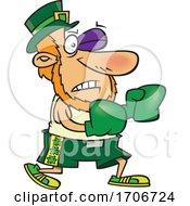 Poster, Art Print Of Cartoon Leprechaun Fighting Irish