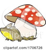 Cartoon Toad Under A Mushroom