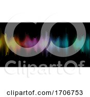 Abstract Background With Graphic Equaliser Design