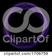 Magic Circle With Glowing Lights And Flowing Lines