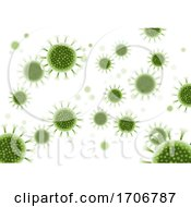 Abstract Virus Cells Background Covid 19 Pandemic
