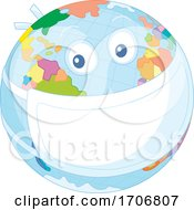 Earth Mascot Wearing A Covid Mask