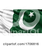 3D Illustration Of The Flag Of Pakistan Waving In The Wind