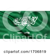 3D Illustration Of The Flag Of Saudi Arabia Waving In The Wind