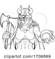 Poster, Art Print Of Viking Female Gladiator Tennis Warrior Woman
