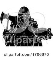 Poster, Art Print Of Viking Trojan Celtic Knight Football Warrior Woman