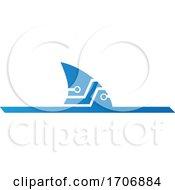 Abstract Blue Technical Shark Fin