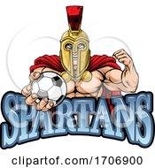 04/12/2020 - Spartan Trojan Soccer Football Sports Mascot