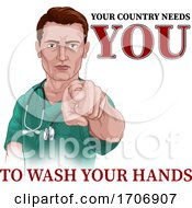 04/13/2020 - Nurse Doctor Pointing Your Country Needs You