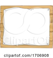 Poster, Art Print Of Scroll Wooden Sign Background