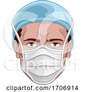 Doctor Wearing PPE Protective Face Mask