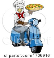 Eagle Chef Pizza Restaurant Delivery Scooter