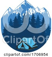 Camping And Mountains Logo by Vector Tradition SM