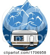 Camping And Mountains Logo