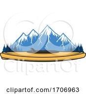 Kayak And Mountains Logo