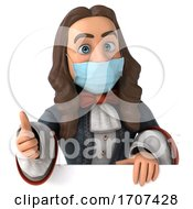 3d King Louis Xvi Wearing A Mask On A White Background