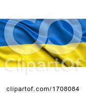 3D Illustration Of The Flag Of Ukraine Waving In The Wind