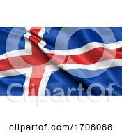 3D Illustration Of The Flag Of Iceland Waving In The Wind