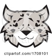 Cartoon Grayscale Leopard School Sports Mascot Face