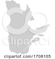 Gray Province Silhouette Map Of Quebec Canada