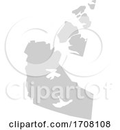 Gray Province Silhouette Map Of The Northwest Territories Canada
