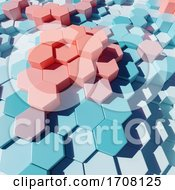 Pastel 3d Plastic Hexagonal Patterned Blocks In Abstract Design by Steve Young