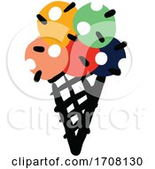 Poster, Art Print Of Bold And Playful Waffle Ice Cream Cone