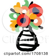 Bold And Playful Vase Of Flowers