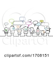 Poster, Art Print Of Stick People Wearing Coronavirus Masks