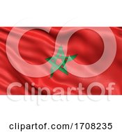 3D Illustration Of The Flag Of Morocco Waving In The Wind