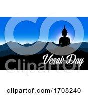 Vesak Day Buddha Silhouette At Sunrise