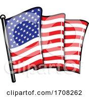 Rippling American Flag