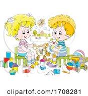 Poster, Art Print Of Children Playing