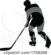 Poster, Art Print Of Ice Hockey Player Silhouette