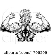 Back Muscles Bodybuilder Strong Arms Concept