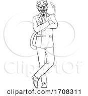Devil Evil Businessman In Suit