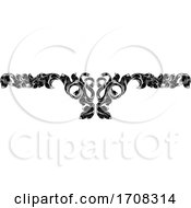 Filigree Leaf Pattern Floral Scroll Pattern
