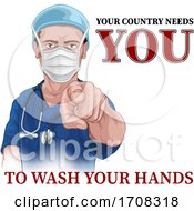 Poster, Art Print Of Nurse Doctor Pointing Your Country Needs You