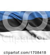 3D Illustration Of The Flag Of Estonia Waving In The Wind